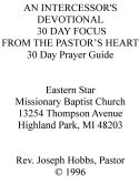 CAn Intercessor's Devotional: 30 day focus - Click To Enlarge